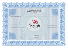 Сертификат English